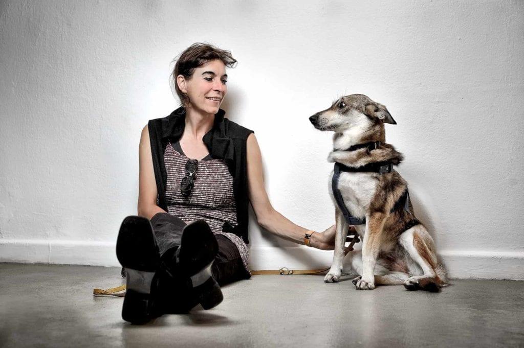 Birgit Ramsauer ja Sola-koira