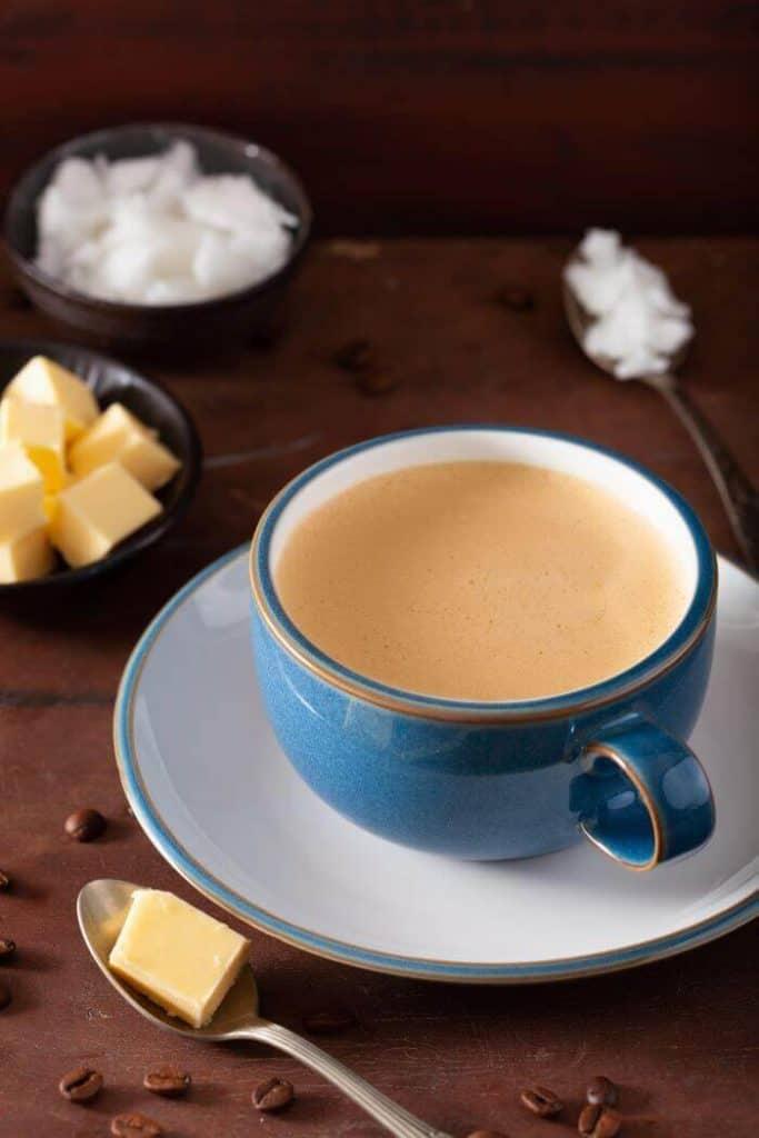 Cannabis tea with coconut oil 2